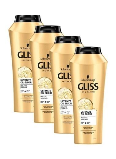 Gliss Gliss Ultimate Oil Elixir Besleyici Şampuan 500 Ml 4'Lü Renksiz